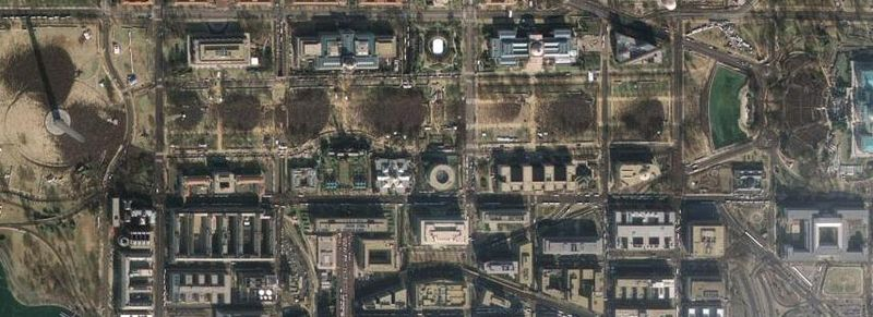 Google earth image inauguration