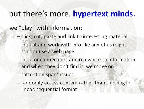 Hypertext mind