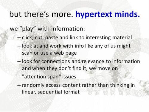 Hypertext mind